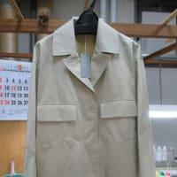 百貨店商品ジャケット しみ抜き作業途中の状態 しみ抜き 綿素材