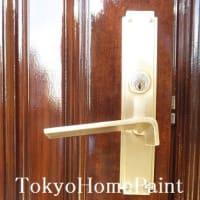 ヤマハ木製玄関ドア再塗装