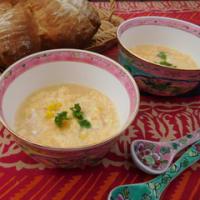 コーンと卵のふわふわスープ