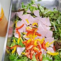 さっぱり!柑橘ドレッシング ロースハムサラダ