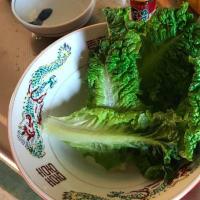 昼食:油揚げと小松菜の炒め煮