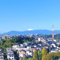 いつの間にか真っ白い富士山に