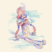 「習作」ピノッキオ「カラー油性ペン」(似顔絵)
