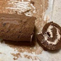 ココアロールケーキ作りました。