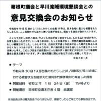 芦ノ湖の水をもっと早川に流そう❢ 災害防止のためにも。