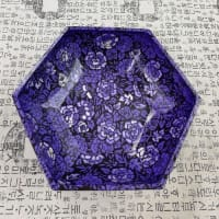 2020年韓紙工芸展示即売会 作品ご紹介(11)六角紫の菓子鉢