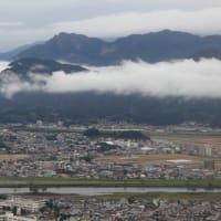 愛宕山展望台から見た行縢山