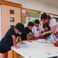 7月16日 印野こども園で、日本茶教室