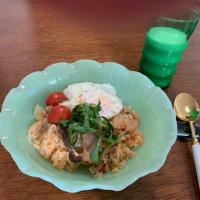 だしとスパイス! ガバオ風味炊き込みご飯 (モニター・レシピ)