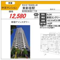 新宿アインスタワー最上階角部屋