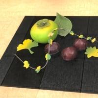 文銭堂の工芸菓子は柿と栗