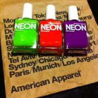 American Apparel★Neon Nail Polish