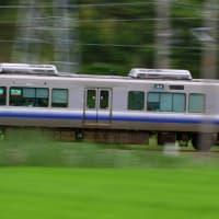 電車で流し撮り練...