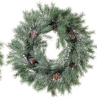クリスマス ディープスノーリース 33cm  45cm 通販