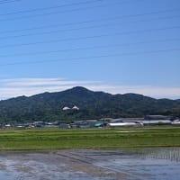 昨日の散歩 きれいな山が見られました