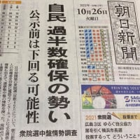 朝日新聞の衆院選中盤情勢調査報道
