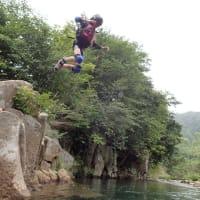 2017冒険キャンプDay4 流れて飛んで 大坪川で川遊び!