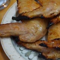 鶏手羽先焼で土曜の晩ごはん