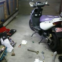 BW\'S100 フロントプーリー修理