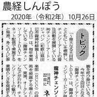 3rd 龍神チェンソーアートDAYS 2020 予告記事 農経しんぽう