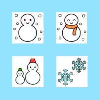 「お天気1/雪」(お天気のマーク/ミニカット)