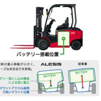【試乗してきました】新型ニチユ バッテリー式カウンターフォークリフト「アレシス」