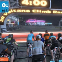 朝練 ZWIFT 2レース 【3R  Classique  Flat  Race  】 4位 & 【3R  Volcano  Clime  Race  】 2位。