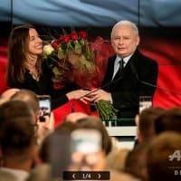 """ポーランド  """"EU懐疑派""""の右派与党「法と正義」、総選挙で過半数維持 微妙なEUとの関係"""