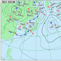 4月24日 アメダスと天気図。