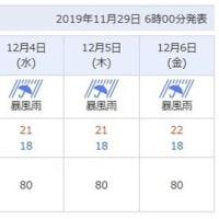 台風28号!来週は八重山諸島移動