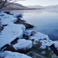 凍り始めました♪ Lake Kussharo