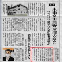 本日の新聞