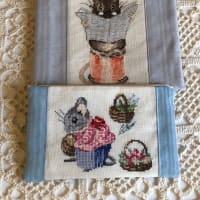 ラメ糸の刺繍