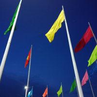 その3 数ヶ月ぶりに旗の下公園に旗が11本