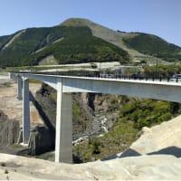 「新阿蘇大橋と立野ダム」