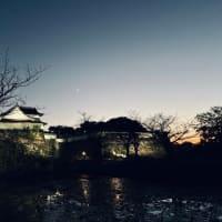 福岡城址の月