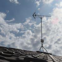 千葉県:習志野市東習志野にて、地デジアンテナ屋根上新設工事