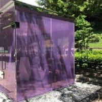 渋谷区の透明トイレ