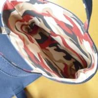 【ハンドメイド】主人のランチバッグ&バッグインバッグを作りました