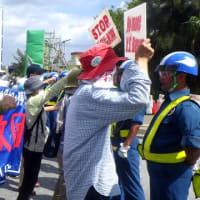 辺野古の海、大浦湾の状況とゲート前抗議行動