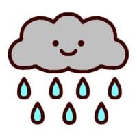 お天気3(雨)(お天気のマーク/ミニカット)