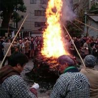 鳥越神社とんど焼き