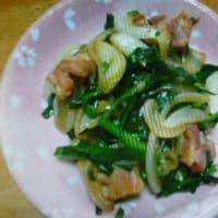 おばさんの料理教室No.3555 ニラ・玉ねぎのベーコン炒め