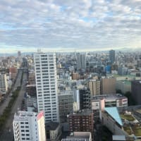 曇り空・気温19度・名古屋のホテルで朝を