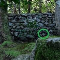 旧竹林院 ハート型の石?