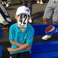 息子とゴルフ(2)