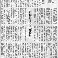 市民置き去り「都構想」/波動 桜宮淳一(在阪テレビ局記者)・・・今日の赤旗記事