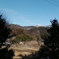冬ばれの山々