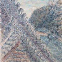楽描き水彩画「城下から仰ぎ見る岐阜城です」