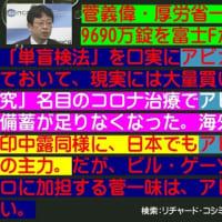 フライヤー:菅義偉・厚労省一味が、アビガン9690万錠を富士Fからこそこそ購入。